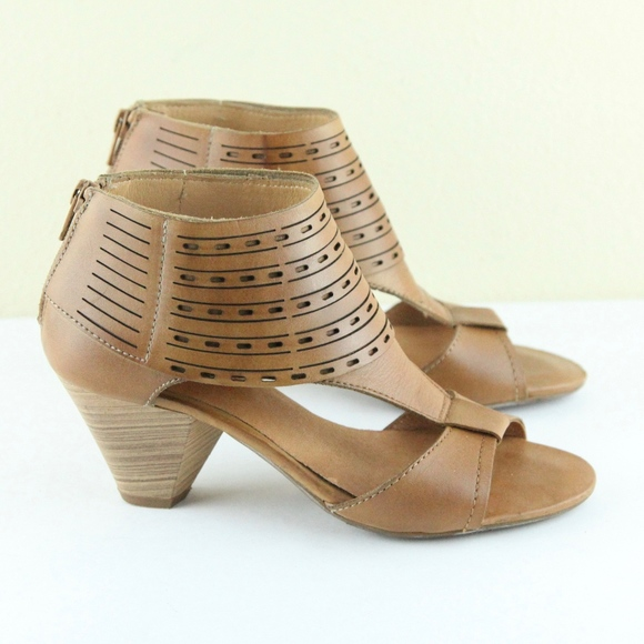 c8f25acb13fd0 PIKOLINOS Shoes | Brown Leather Heels Sandals 36 6 | Poshmark